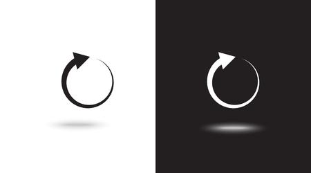 Undo Arrow Icon, Motion icon. Back arrow icon. Arrow button. Archivio Fotografico - 124897325