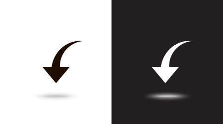 Undo Arrow Icon, Motion icon. Back arrow icon. Arrow button. Archivio Fotografico - 124897334