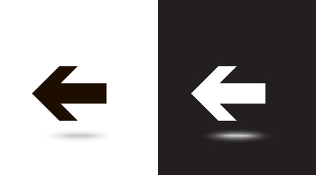 Undo Arrow Icon, Motion icon. Back arrow icon. Arrow button. Archivio Fotografico - 124899707