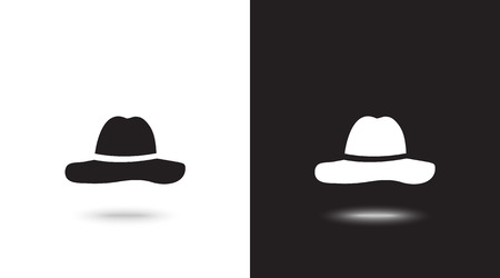 Vector icon cap on black and white background Reklamní fotografie - 124899711