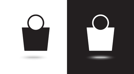 shopping bag - Vector icon Illustration