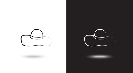 Vector icon cap on black and white background Reklamní fotografie - 124899717