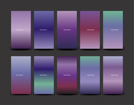 Soft color background design. Creative Gradient set for greeting card, flyer, invitation, poster, brochure, banner calendar