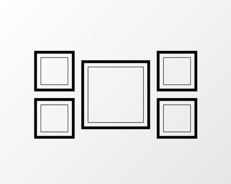 Picture frame vector. Photo art gallery Vetores