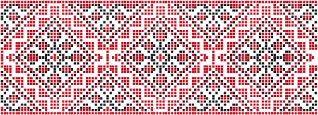 Embroidered pattern on transparent background