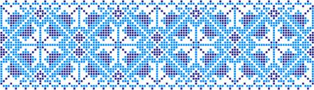 Patrón bordado sobre fondo transparente