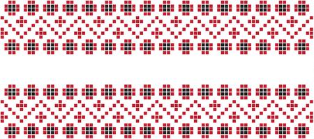 Embroidered pattern on transparent background Vetores