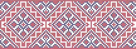 Embroidered pattern on transparent background Vector Illustratie