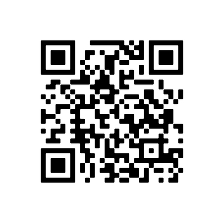 Vector QR code sample for smartphone scanning isolated on white background. 矢量图像