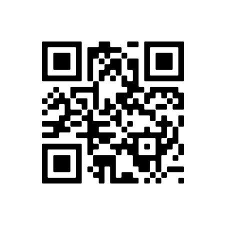 Wektor próbki kodu QR do skanowania smartfona na białym tle.