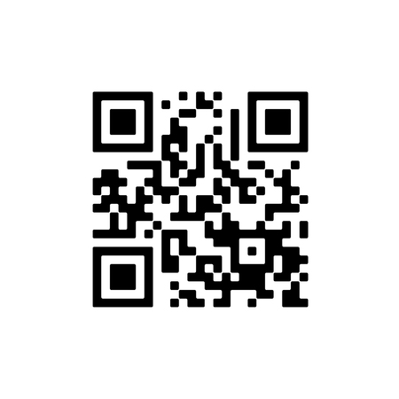 Vector QR code sample for smartphone scanning isolated on white background. Illustration
