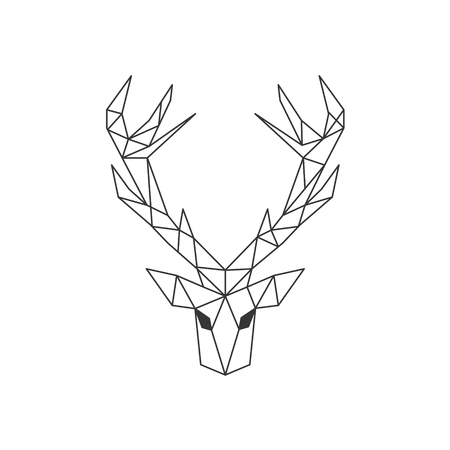 Vector. Abstract polygonal the head of a deer.