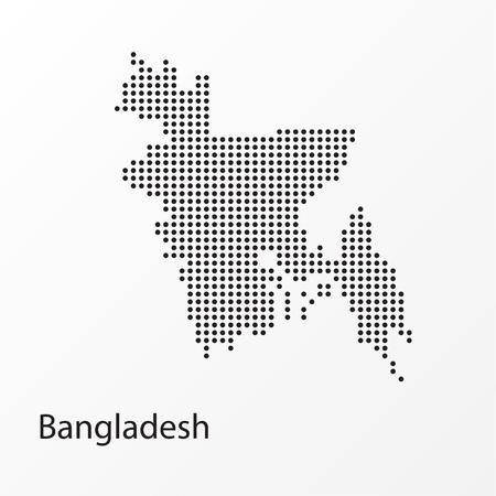 Gepunktete Vektorkarte von Bangladesch