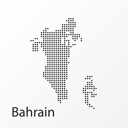 Dots Bahrain Vector Geographical Map