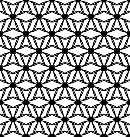 Abstract geometric pattern with lines, rhombuses A seamless vector background. Blue-black and gold texture Illustration
