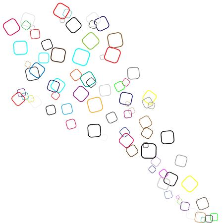 Confetti pattern minimal geometric cover template of isolated elements,