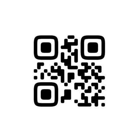 Vector QR code sample for smartphone scanning isolated on white background. Ilustração