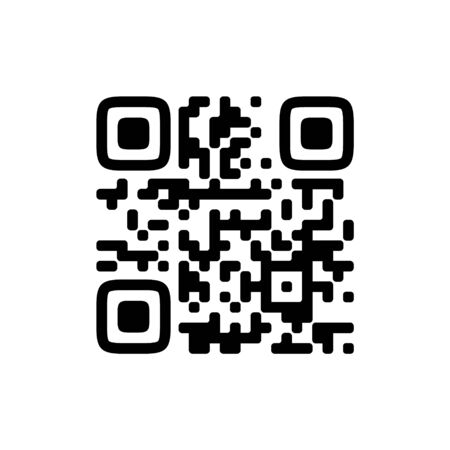 Vector QR code sample for smartphone scanning isolated on white background. Ilustracja