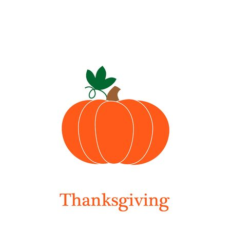 Pumpkin - squash for Halloween or Thanksgiving flat vector color icon for apps and websites