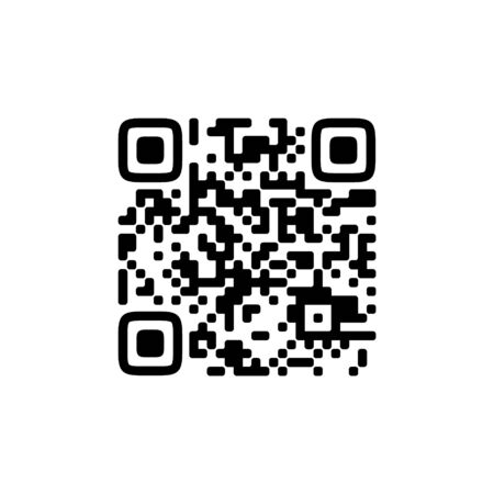Vector QR code sample for smartphone scanning isolated on white background. 向量圖像