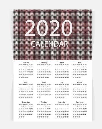 vector calendar 2020 new design Stock Illustratie