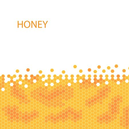 Honeycomb vector honey pattern. stock illustration. Иллюстрация