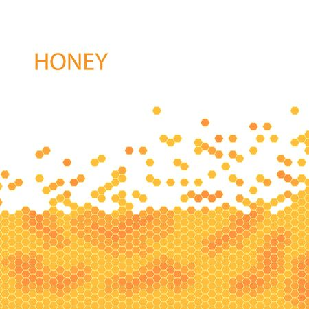 Honeycomb vector honey pattern. stock illustration.