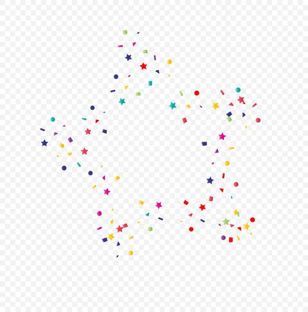 Vector ?olorful Geometric Confetti On Transparent Background.