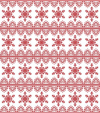 Vector seamless christmas and new year pattern in scandinavian style