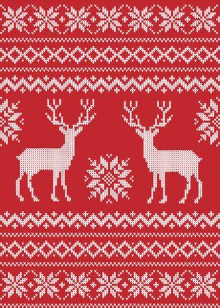 Motif tricoté de Noël et du nouvel an sur un fond transparent