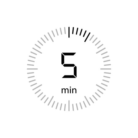 Stopwatch minutes Timer Clock Icon Vector Illustration