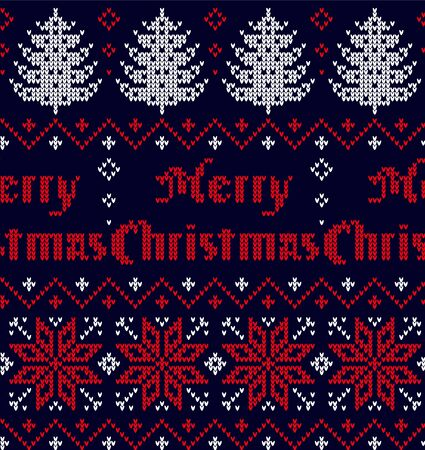Patrón de punto de Navidad y año nuevo