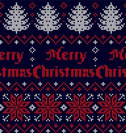 Reticolo lavorato a maglia di Natale e Capodanno
