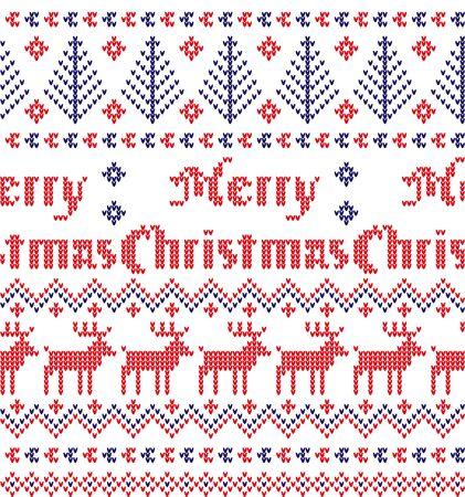 Modèle tricoté de Noël et du nouvel an