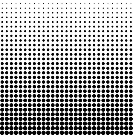 Vector Seamless White to Black Color Transition Triangle Halftone Gradient Pattern. Abstract Geometric Background