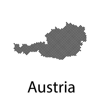 Map of Austria Stock Illustratie