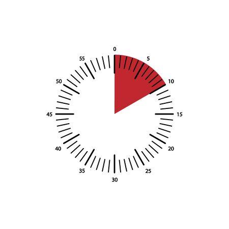 clock icon, vector alarm icon, timer symbol Vector Illustration
