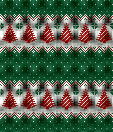 Knitted Christmas and New Year pattern, norwegian background