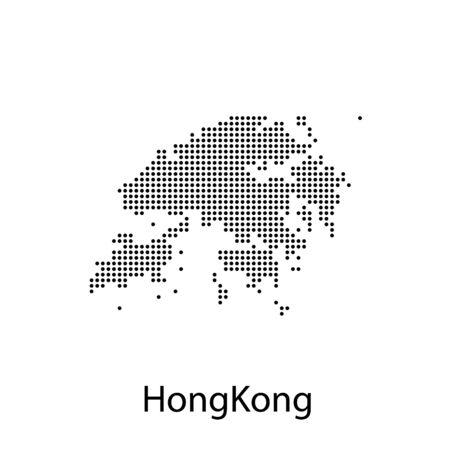 map of Hong Kong. map concept