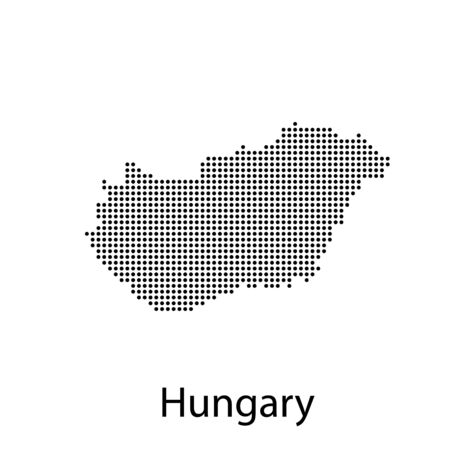 vector map and flag of Hungary with white background. Illusztráció
