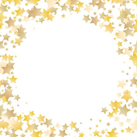 Vector gold glitter wave abstract background, golden sparkles on white background. Ilustrace