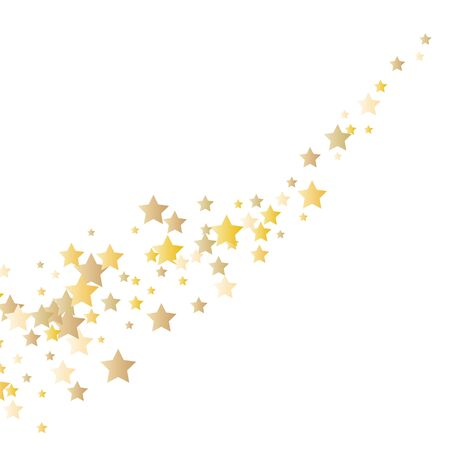 Vector gold glitter wave abstract background, golden sparkles on white background.