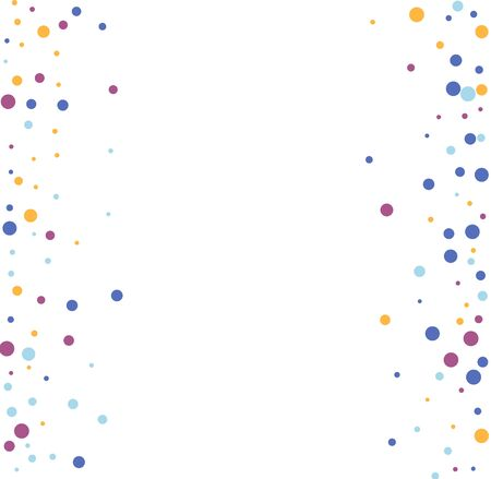 Festive background with colorful falling confetti, vector illustration