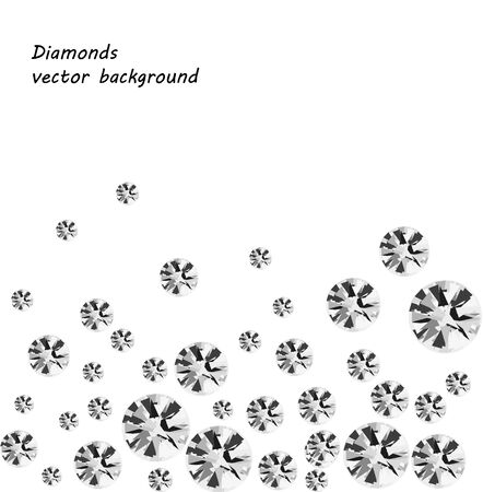 sparkling diamonds on black background vector collection eps