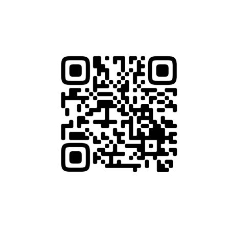 Sample qr code icon - Vector