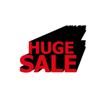 red SALE 3D vector text