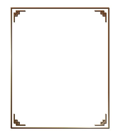 Vector illustration of art deco borders and frames. Creative pattern in the style of the 1920s for your design. Ilustração Vetorial