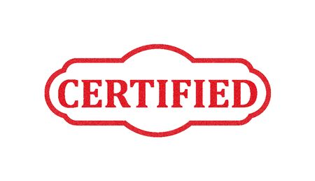 Certified stamp Illustration