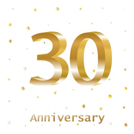 Years Golden Anniversary Vector Logo Design. Poster template for Celebrating. Illusztráció