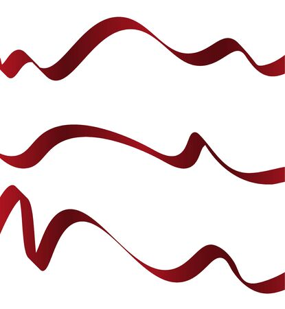vector red ribbon on a white background Vettoriali